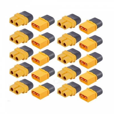 10 Pairs AMASS XT60 Plug Connector Male Female Set for FPV Racing Quadcopter Multirotor Airplane