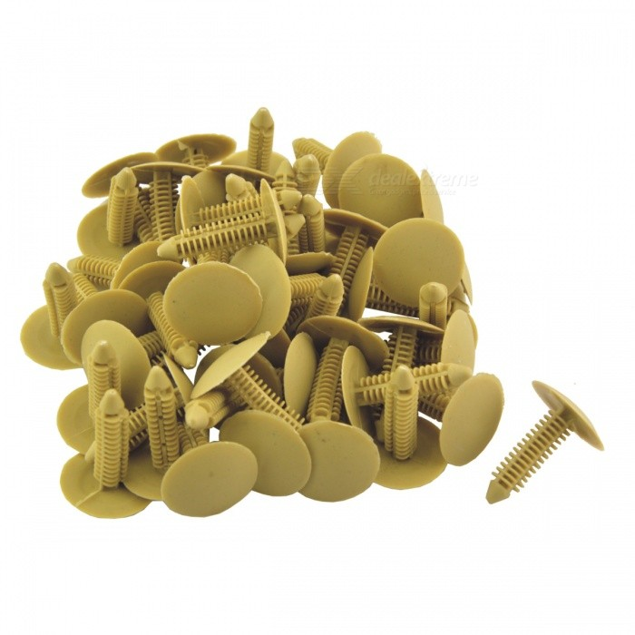 CARKING Plastic 35mm Length Car Push-Type Retainer Fasteners Clips Rivets - Yellow (50 PCS)Other Gadgets<br>Form  ColorOrange YellowModelN/AQuantity50 DX.PCM.Model.AttributeModel.UnitMaterialPlasticShade Of ColorYellowPacking List50(±2%) x Plastic Rivets<br>
