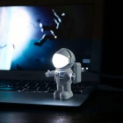 Cool Astronaut Spaceman Style Adjustable USB LED Night Light Desk Lamp for Laptop Computer PC - White