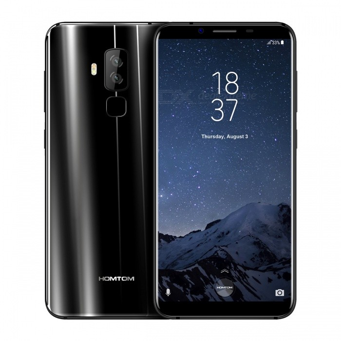 "HOMTOM S8 Android 7.0 4G 5.7"" IPS Phone with 4GB RAM, 64GB ROM - Black (EU Plug)"