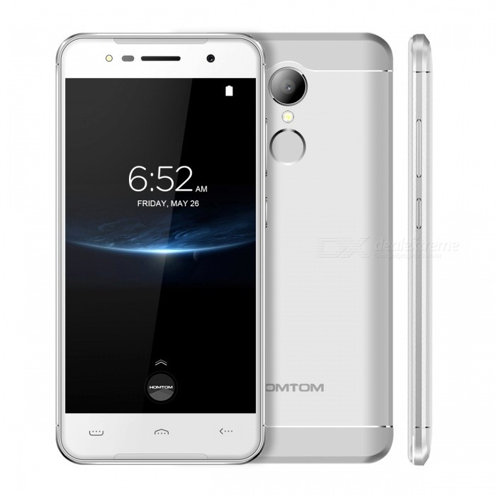 HOMTOM HT37 PRO 5.0 Inches 4G Phone with 3GB RAM�� 32GB ROM - Silver (EU Plug)