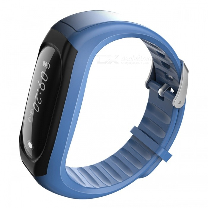 ID118Hr Smart Band Bracelet with Fitness Tracker, Heart Rate Monitor - BlueSmart Bracelets<br>Form  ColorBlue + BlackModelID118HrQuantity1 DX.PCM.Model.AttributeModel.UnitMaterialABSShade Of ColorBlueWater-proofIP67Bluetooth VersionBluetooth V4.0Touch Screen TypeYesCompatible OSIOS7.1 &amp; above, Android 4.4 &amp; aboveBattery Capacity70 DX.PCM.Model.AttributeModel.UnitBattery TypeLi-polymer batteryStandby Time5-7 DX.PCM.Model.AttributeModel.UnitPacking List1 x Smart Bracelet1 x User Manual<br>