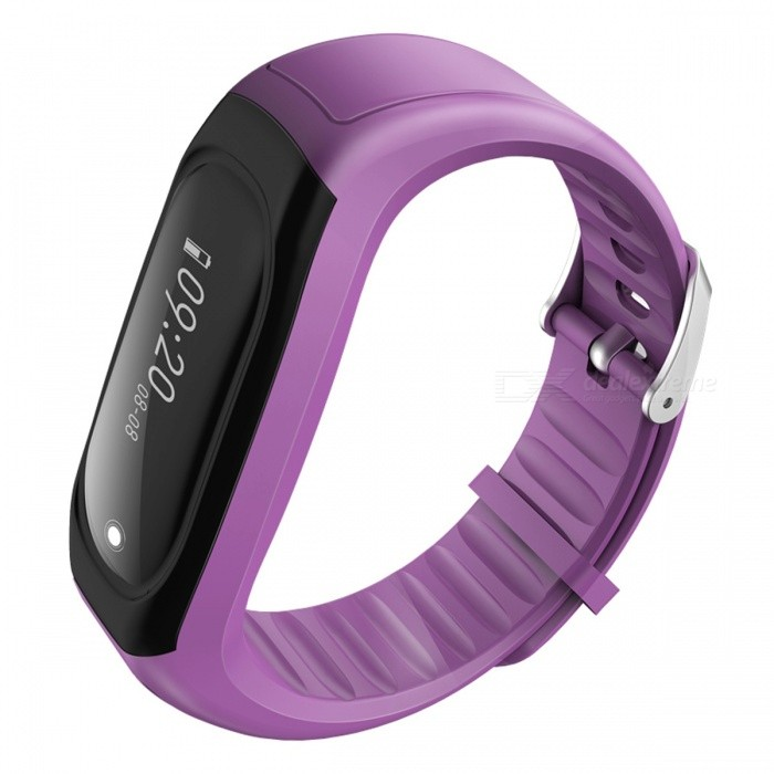 ID118Hr Smart Band Bracelet with Fitness Tracker, Heart Rate Monitor - PurpleSmart Bracelets<br>Form  ColorPurple + BlackModelID118HrQuantity1 DX.PCM.Model.AttributeModel.UnitMaterialABSShade Of ColorPurpleWater-proofIP67Bluetooth VersionBluetooth V4.0Touch Screen TypeYesCompatible OSIOS 7.1 &amp; above, Android 4.4 &amp; aboveBattery Capacity70 DX.PCM.Model.AttributeModel.UnitBattery TypeLi-polymer batteryStandby Time5-7 DX.PCM.Model.AttributeModel.UnitPacking List1 x Smart Bracelet1 x User Manual<br>