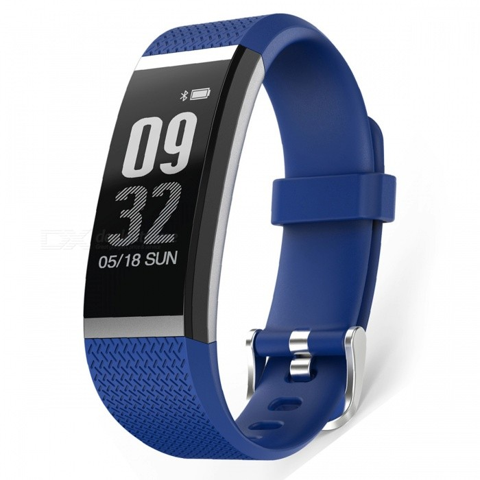 G18 0.96 PMOLED Full Touch Optical Smart Bracelet with Heart Rate Monitor - BlueSmart Bracelets<br>Form  ColorBlue + BlackModelG18Quantity1 setMaterialABSShade Of ColorBlueWater-proofIP67Bluetooth VersionBluetooth V4.0Touch Screen TypeYesCompatible OSIOS8.0 and above, Android4.4 and aboveBattery Capacity60 mAhBattery TypeLi-polymer batteryStandby Time5-7 daysPacking List1 x Smart Bracelet1 x Charging Cable1 x User Manual<br>