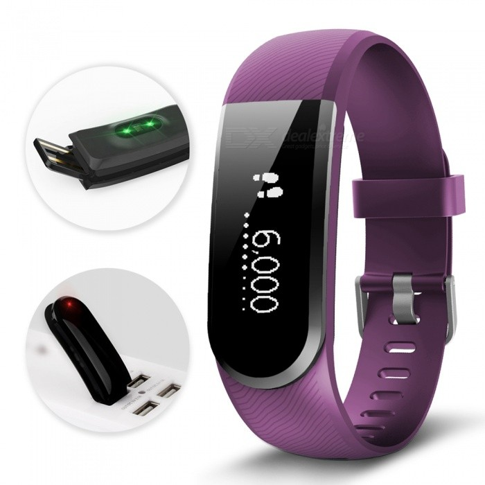 ID101U HR 0.91 OLED IP67 Waterproof Smart Bracelet with Heart Rate Monitor - PurpleSmart Bracelets<br>Form  ColorPurple + BlackModelID101U HRQuantity1 setMaterialABSShade Of ColorPurpleWater-proofIP67Bluetooth VersionBluetooth V4.0Touch Screen TypeYesCompatible OSIOS7.1 and above, Android4.4 and aboveBattery Capacity60 mAhBattery TypeLi-polymer batteryStandby Time5-7 daysPacking List1 x Smart Bracelet1 x English User Manual<br>