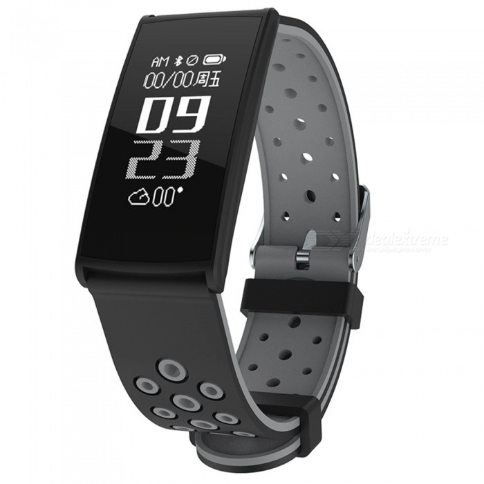 R11 0.96 OLED IP67 Waterproof Smart Bracelet with Blood Pressure, Heart Rate Monitor - BlackSmart Bracelets<br>Form  ColorBlackModelR11Quantity1 DX.PCM.Model.AttributeModel.UnitMaterialABSShade Of ColorBlackWater-proofIP67Bluetooth VersionBluetooth V4.0Touch Screen TypeYesCompatible OSAndroid 4.4 and above, IOS 8.0 above, supports bluetooth 4.0Battery Capacity80 DX.PCM.Model.AttributeModel.UnitBattery TypeLi-polymer batteryStandby Time5-7 DX.PCM.Model.AttributeModel.UnitPacking List1 x Smart Bracelet1 x Charging Port1 x User Manual<br>