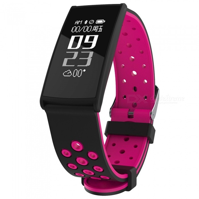 R11 0.96 OLED IP67 Waterproof Smart Bracelet with Blood Pressure, Heart Rate Monitor - Deep PinkSmart Bracelets<br>Form  ColorDeep Pink + BlackModelR11Quantity1 DX.PCM.Model.AttributeModel.UnitMaterialABSShade Of ColorPinkWater-proofIP67Bluetooth VersionBluetooth V4.0Touch Screen TypeYesCompatible OSAndroid 4.4 and above, IOS 8.0 above, supports bluetooth 4.0Battery Capacity80 DX.PCM.Model.AttributeModel.UnitBattery TypeLi-polymer batteryStandby Time5-7 DX.PCM.Model.AttributeModel.UnitPacking List1 x Smart Bracelet1 x Charging Port1 x User Manual<br>