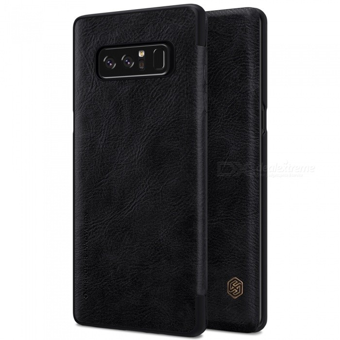 Nillkin Protective PU Leather Case for Samsung Galaxy Note 8 - BlackLeather Cases<br>Form  ColorBlackModelNSXNOT8QX01MaterialPU LeatherQuantity1 DX.PCM.Model.AttributeModel.UnitShade Of ColorBlackCompatible ModelsSamsung Galaxy Note 8FeaturesAnti-slip,Shock-proof,Abrasion resistancePacking List1 x NILLKIN QIN Leather Cover<br>