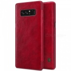 Nillkin Protective PU Leather Case for Samsung Galaxy Note 8 - Red