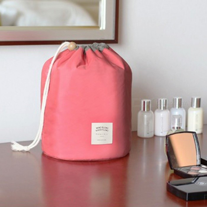 Large Capacity Barrel Shaped Travel Cosmetic Bag Nylon Wash Bag with Main / Mini / PVC Pouch - RedOther Cosmetic Tools<br>Form  ColorRedMaterialNylonQuantity1 setShade Of ColorRedPower SupplyOthers,N/APower AdapterOthers,N/APacking List1 x Main pouch1 x Mini pouch1 x PVC pouch<br>