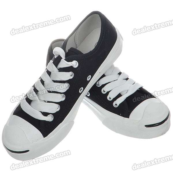 Outdoor Sports Canvas Shoes - Size 36 (Black + White)
