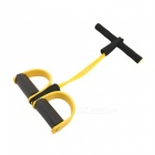 P-TOP 4-Tube Yoga Fitness Resistance Bands, Sit Up Pull Ropes with Latex Pedal Exerciser for Women Men -  Yellow