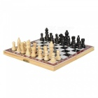 Portable Folding Chess Game Set with Wooden Box