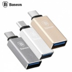 Baseus Sharp Series Type-C Male to USB 3.1 Female OTG Adapter Converter - Gray