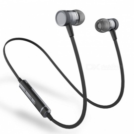 Sound Intone H6 Magnetic Adsorption Bluetooth Earphone with Microphone for Running Sports - Black