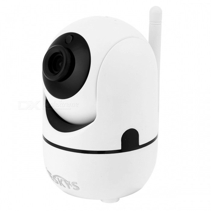 VESKYS 720p 1.0MP Wireless IP Camera Baby Monitor Smart Home Security Video Surveillance Two way Audio Support TF Card - EU PlugIP Cameras<br>Form  ColorWhitePower AdapterEU PlugModelN/AMaterialABSQuantity1 DX.PCM.Model.AttributeModel.UnitImage SensorCMOSImage Sensor SizeOthers,1/4 inchesPixels1.0MPLens3.6mmViewing AngleOthers,75 DX.PCM.Model.AttributeModel.UnitVideo Compressed FormatH.264Picture Resolution1280x720Frame Rate25fpsInput/OutputBuilt-in microphone/speakerMinimum Illumination0.1 DX.PCM.Model.AttributeModel.UnitNight VisionYesIR-LED Quantity6Night Vision Distance10 DX.PCM.Model.AttributeModel.UnitWireless / WiFi802.11 b / g / nNetwork ProtocolTCP,IP,UDP,HTTP,SMTP,uPnPSupported SystemsOthers,NOSupported BrowserOthers,NOSIM Card SlotNoOnline Visitor4IP ModeDynamicMobile Phone PlatformAndroid,iOSSmart AlarmMotion-Detection AlarmFree DDNSYesIR-CUTYesBuilt-in Memory / RAMNoLocal MemoryYesMemory CardTFMax. Memory Supported64GBMotorYesRotation AngleHorizontal 355 degree / vertical 120 degreeSupported LanguagesEnglish,Simplified ChineseWater-proofNoPacking List1 x IP Camera1 x EU Plug power adapter (110~240V)1 x Data cable 1 x Pack of installation accessories1 x English user manual<br>