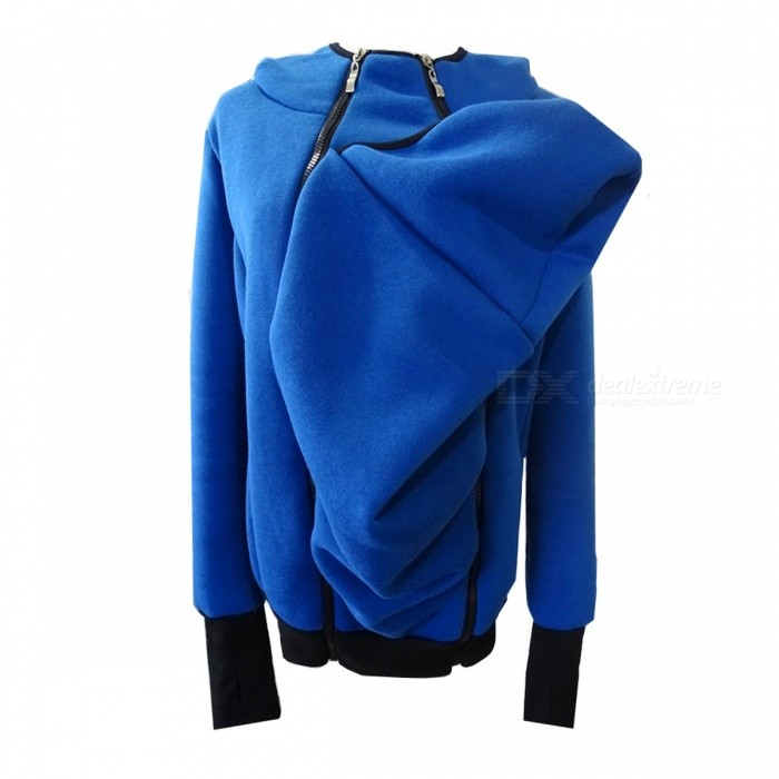 Kangaroo Style Zipper Removable Womens Thermal Sweater - Dark Blue (XL)Hoodies &amp; Sweatshirts<br>Form  ColorDeep Blue + WhiteSizeXLQuantity1 pieceShade Of ColorBlueMaterialCottonPatternNOStyleOthers,Keep warmShoulder Width45 cmChest Girth104-109 cmWaist Girth84-88 cmSleeve Length67 cmTotal Length92 cmSuitable for Height170-175 cmPacking List1 x Sweater<br>