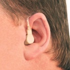 Mini BTE Behind Ear Type Volume Adjustable Sound Voice Amplifier, Hearing Aid for Elderly People