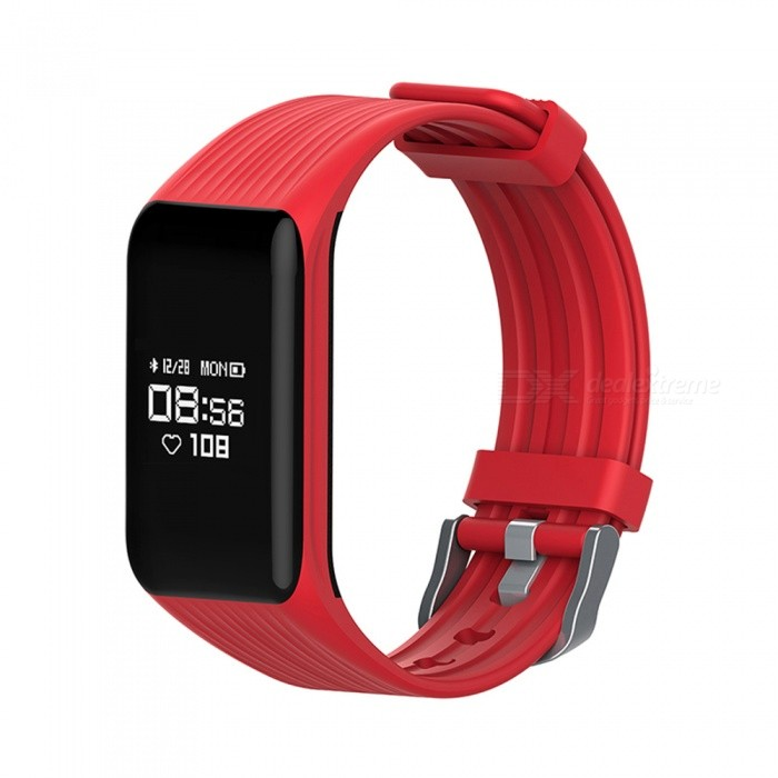 MGCOOL Band 3 Bluetooth Smart Bracelet Wristband Watch Heart Rate Monitor for Android IOS - RedSmart Bracelets<br>Form  ColorRedModelMGCOOLQuantity1 setMaterialSilica gelShade Of ColorRedWater-proofYesBluetooth VersionBluetooth V4.0Touch Screen TypeYesCompatible OSAndroid 4.4 or above, iOS 8.0 or aboveBattery Capacity105 mAhBattery TypeLi-polymer batteryStandby Time720 hourOther FeaturesDynamic heart rate monitor, smart pedometer, calories record, sleep monitor, sync date and time, notifications, find Phone, sedentary alert, etc.Packing List1 x Smart Bracelet1 x User manual1 x Charger<br>