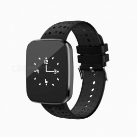 V6 Fashion Bluetooth IP67 Waterproof Smart Wrist Watch Bracelet with Heart Rate Monitoring - Red + Black