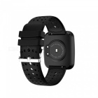 V6 Fashion Bluetooth IP67 Waterproof Smart Wrist Watch Bracelet with Heart Rate Monitoring - Black