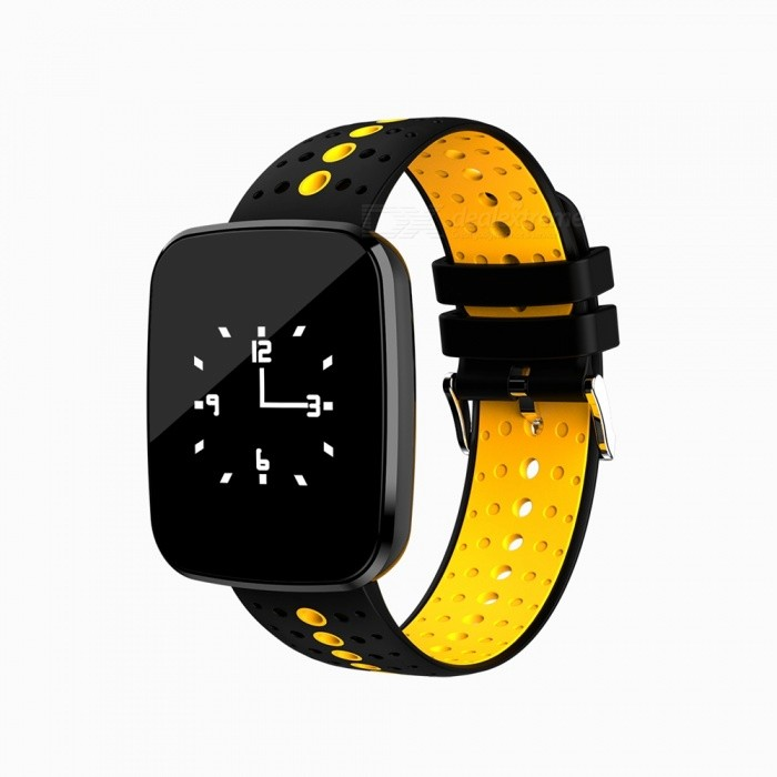V6 Fashion Bluetooth IP67 Waterproof Smart Wrist Watch Bracelet with Heart Rate Monitoring - Orange + BlackSmart Bracelets<br>Form  ColorOrange + BlackQuantity1 setMaterialABSShade Of ColorOrangeWater-proofIP67Bluetooth VersionBluetooth V4.0Touch Screen TypeYesCompatible OSAndroid system version 4.4 or above; iOS system version 8.0 or above.Battery Capacity110 mAhBattery TypeLi-polymer batteryStandby Time5-7 daysPacking List1 x Smart Watch1 x Charging Cable 1 x User Manual<br>