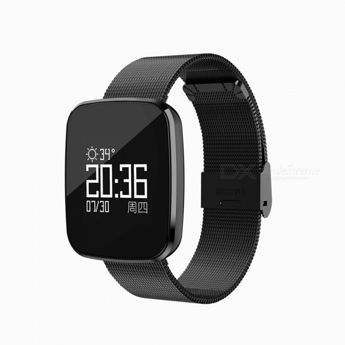 V6 Fashion Bluetooth IP67 Waterproof Smart Wrist Watch Bracelet with Heart Rate MonitoringSmart Bracelets<br>Form  ColorBlackQuantity1 setMaterialSteelShade Of ColorBlackWater-proofIP67Bluetooth VersionBluetooth V4.0Touch Screen TypeYesCompatible OSAndroid system version 4.4 or above; iOS system version 8.0 or above.Battery Capacity110 mAhBattery TypeLi-polymer batteryStandby Time5-7 daysPacking List1 x Smart Watch1 x Charging Cable 1 x User Manual<br>