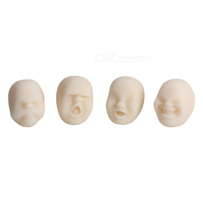 Vivid Face Expression Style Stress Reliever Relief Squeeze Toy - White (Random Style)Stress Relievers<br>Form  ColorWhiteMaterialTPRQuantity1 DX.PCM.Model.AttributeModel.UnitSuitable Age 5-7 years,8-11 years,12-15 years,Grown upsPacking List1 x Toy (Will Ship in Random Style)<br>