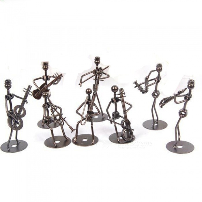 ZHAOYAO 8-Piece Creative Music Band Model Ornaments for Home Decoration, Birthday Gifts