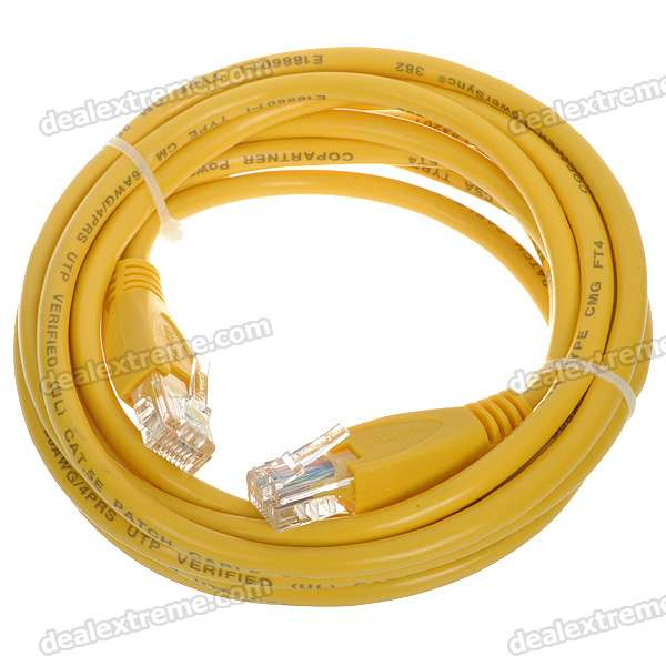 Cat.5e RJ-45 Stranded Network Cable - Yellow (3M)