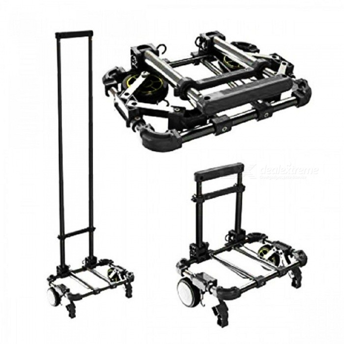 Portable Folding Aluminum Alloy Supermarket Luggage Cart
