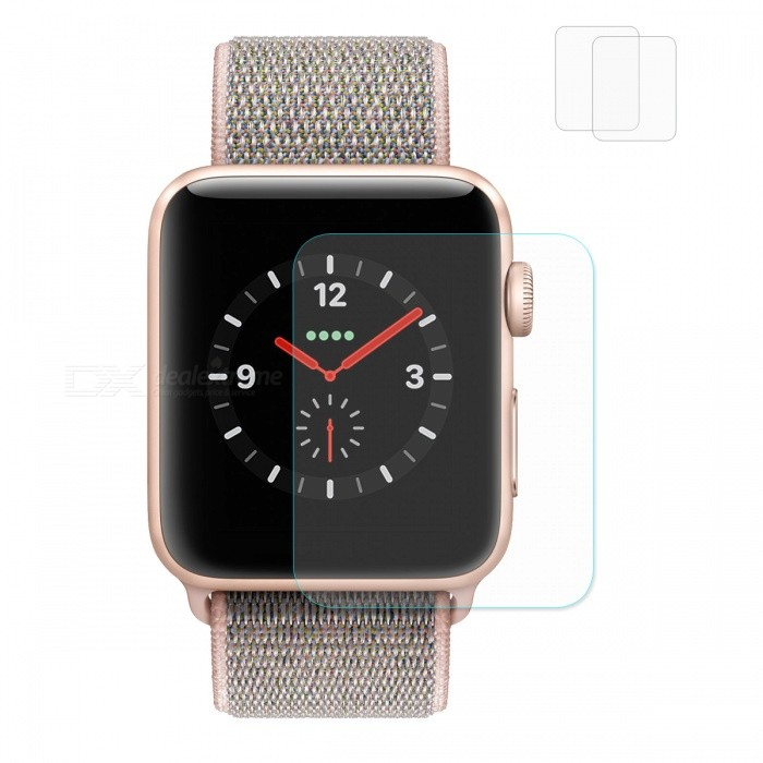 Hat-Prince 2Pcs Tempered Glass Screen Film Protectors for Apple Watch Series 3 38mmWearable Device Accessories<br>Form  ColorTransparentQuantity2 DX.PCM.Model.AttributeModel.UnitMaterialTempered GlassPacking List2 x Screen Protectors2 x Dust Removers2 x Cleaning Cloths2 x Alcohol Prep Pads<br>