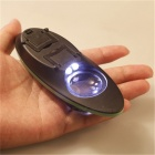 10X Desktop Magnifier Magnifying Glass with 2Pcs LED Lights for Reading Repairing and Inspection - Green