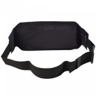 Multifunctional Waterproof Outdoor Sports Running Mobile Phone Lycra Waist Bag with Adjustable Strap - Grey + Black