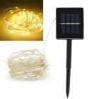 JRLED 10m IP65 Waterproof Warm White Solar Powered Copper Wire String Light