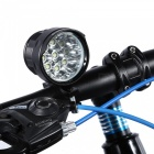 Marsing E9X T6 Bike Bicycle LED Headlight Headlamp Set - Black (6 x 18650 / US Plug)