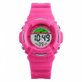 SKMEI 1272 Children's Fashion 50M Waterproof Digital Wrist Watch with EL Light - Red