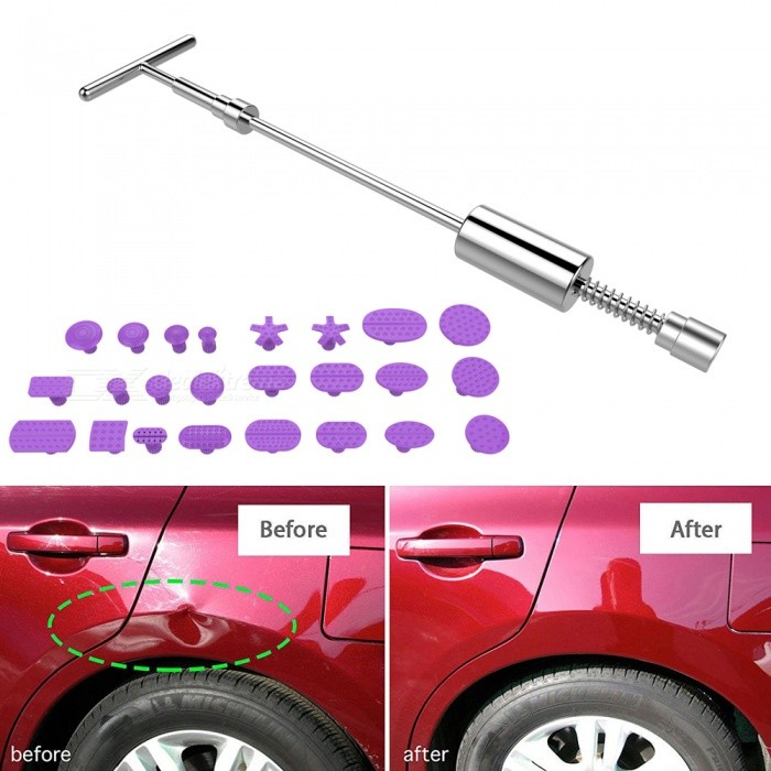 1 Affordable Best Mobile Auto Paintless Dent Repair Pdr: Jtron PDR Auto Body 2-in-1 T-bar Glue Dent Puller With