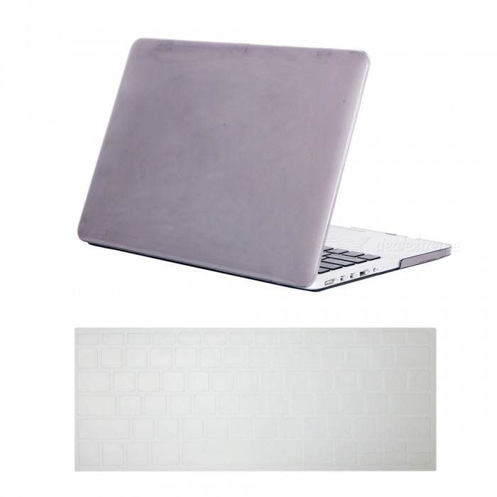 Dayspirit Ultra Slim Crystal Hard Case + Keyboard Cover for MacBook Pro 13.3 with Retina Display A1425/A1502 - GrayNetbook&amp;Laptop Cases<br>Form  ColorTranslucent GreyModelN/AQuantity1 DX.PCM.Model.AttributeModel.UnitShade Of ColorGrayMaterialPCCompatible ModelMacbook Pro 13.3 with Retina DisplayCompatible BrandAPPLETypeFull Body CasesStyleBusiness,Casual,Fashion,ContemporaryCompatible Size13.3 inchPacking List1 x Hard shell (top + bottom)1 x Keyboard cover<br>