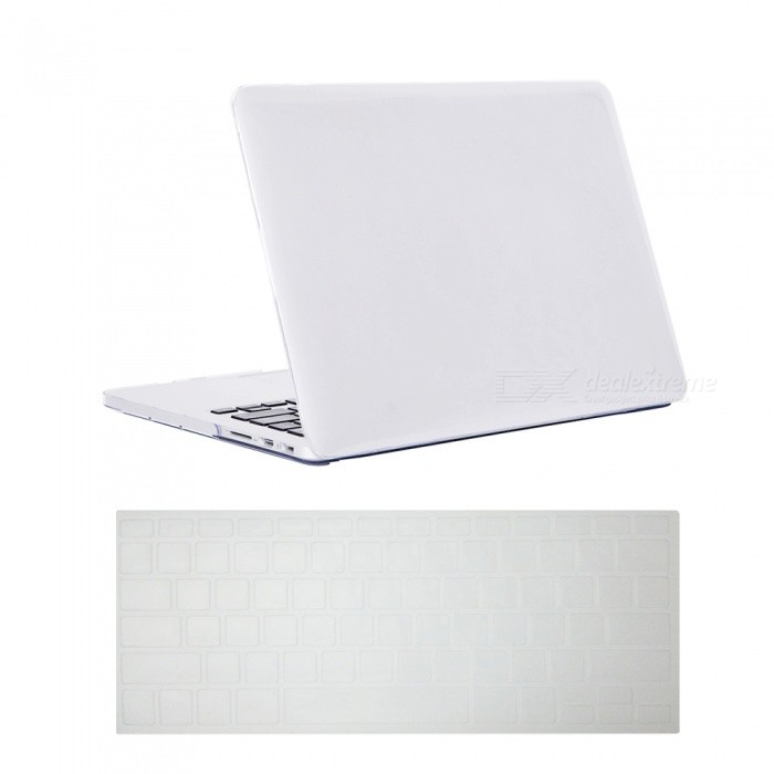 Dayspirit Ultra Slim Crystal Hard Case + Keyboard Cover for Macbook Pro 15-Inch A1398 with Retina Display - WhiteNetbook&amp;Laptop Cases<br>Form  ColorTranslucent WhiteModelN/AQuantity1 DX.PCM.Model.AttributeModel.UnitShade Of ColorWhiteMaterialPCCompatible ModelMACBOOK PRO 15.4 with Retina DisplayCompatible BrandAPPLETypeFull Body CasesStyleBusiness,Casual,Fashion,ContemporaryCompatible SizeOthers,15.4 inchPacking List1 x Hard shell (top + bottom)1 x Keyboard cover<br>