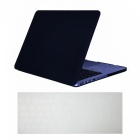 Dayspirit ultra slim matte hard case + keyboard cover for macbook pro 15.4 inch a1398 with retina display - black