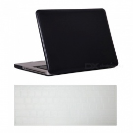 Dayspirit Ultra Slim Crystal Hard Case + Keyboard Cover for MacBook Pro 15.4 inch with CD-ROM (A1286) - Black