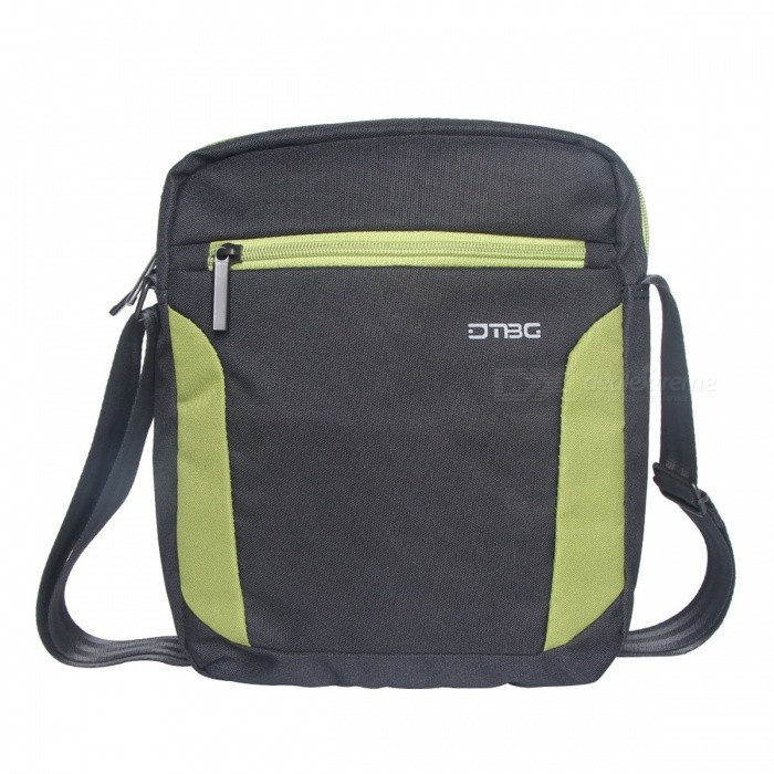 DTBG S8304W 9.7 Inch Shoulder Messenger Crossbody Bag for Tablet, IPADBags and Pouches<br>Form  ColorBlack + GreenModelS8304WQuantity1 DX.PCM.Model.AttributeModel.UnitShade Of ColorBlackMaterialNylonCompatible Size10.1 inchTypeMessengers,Others,Crossbody BagPacking List1 x Crossbody Bag<br>