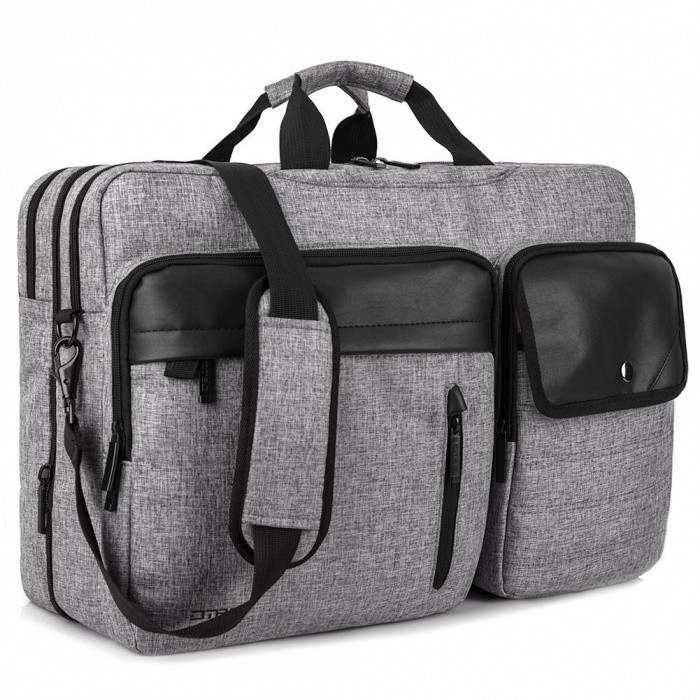 DTBG Nylon Versatile Spacious Business Casual Travel Laptop Messenger Bag Briefcase, Handbag - GreyBags and Pouches<br>Form  ColorGreyModelK9016WQuantity1 pieceShade Of ColorGrayMaterialNylonCompatible Size15.6 inch,17.3 inchTypeMessengers,Tote BagsPacking List1 x Bag<br>