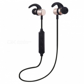 ZHAOYAO Sports Magenetic Bluetooth Earphones Headset Wireless Running Earbud Headset - Golden