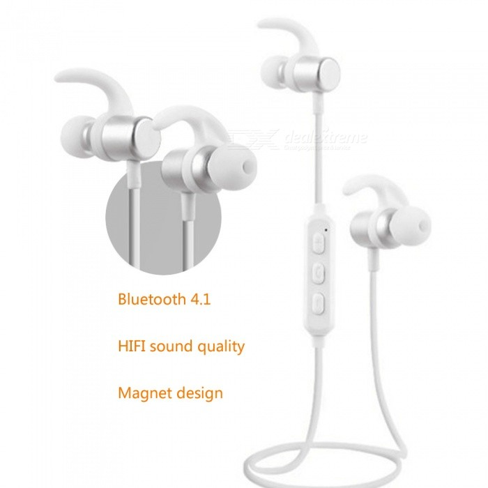 ZHAOYAO Sports Magenetic Bluetooth Earphones Headset Wireless Running Earbud Headset - Rose GoldHeadphones<br>Form  ColorAntique SilveryBrandOthers,[ZHAOYAO]MaterialABSQuantity1 DX.PCM.Model.AttributeModel.UnitConnectionBluetoothBluetooth VersionBluetooth V4.1Operating Range10mCable Length55 DX.PCM.Model.AttributeModel.UnitHeadphone StyleBilateralWaterproof LevelIPX4Applicable ProductsIPHONE 7,IPHONE 7 PLUSHeadphone FeaturesInvisible Style,For Sports &amp; ExerciseRadio TunerNoSupport Memory CardNoSupport Apt-XYesBuilt-in Battery Capacity 55 DX.PCM.Model.AttributeModel.UnitStandby Time200 DX.PCM.Model.AttributeModel.UnitTalk Time5 DX.PCM.Model.AttributeModel.UnitMusic Play Time4 DX.PCM.Model.AttributeModel.UnitPacking List1 x Earphones1 x Data Cable1 x Manual<br>