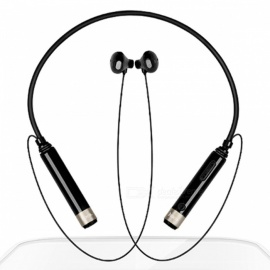 ZHAOYAO Bluetooth V4.0 Wireless Neckband Headset Sports Stereo Headphones - Black