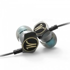 Eastor DM7 Special Edition Gold Plated Housing HiFi Wired In-Ear Earphone Headset with Mic - Gray