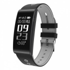 "S13 0.96"" OLED Smart Bluetooth Bracelet with Heart Rate, Oxygen Pressure Monitor - Grey"