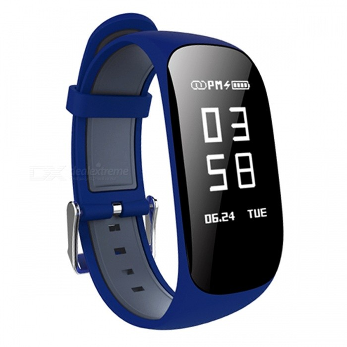 Z17 0.96 OLED Intelligent Bluetooth Wrist Watch Bracelet with Heart Rate Monitor, Pedometer - BlueSmart Bracelets<br>Form  ColorBlue + BlackModelZ17Quantity1 DX.PCM.Model.AttributeModel.UnitMaterialABSShade Of ColorBlueWater-proofIP67Bluetooth VersionBluetooth V4.0Touch Screen TypeYesCompatible OSIOS7.1 and above, Android4.4 and aboveBattery Capacity90 DX.PCM.Model.AttributeModel.UnitBattery TypeLi-polymer batteryStandby Time5-7 DX.PCM.Model.AttributeModel.UnitPacking List1 x Smart Watch1 x Charging Cable 1 x User Manual<br>